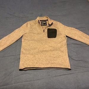 Tan and black 3/4 zip sweater